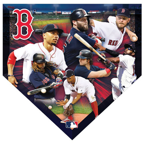 MLB Home Plate Shaped 500 Piece Jigsaw- Red Sox