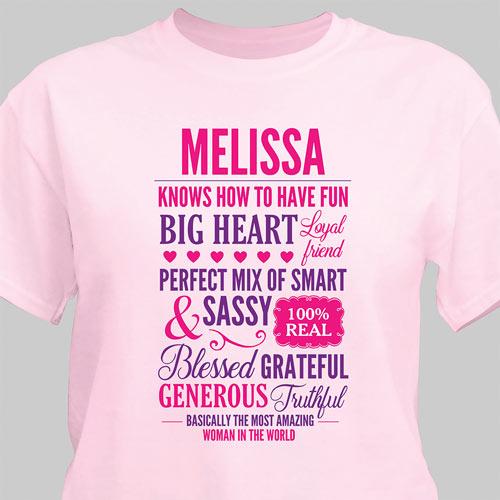 Personalized Most Interesting Woman T-Shirt