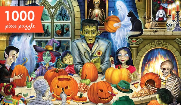 Haunted House Party 1000 Piece Jigsaw Puzzle