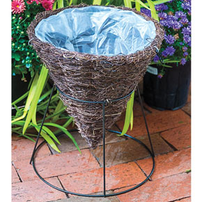 Cone Basket Planter with Stand