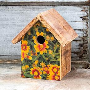 Floral Print Wren Houses