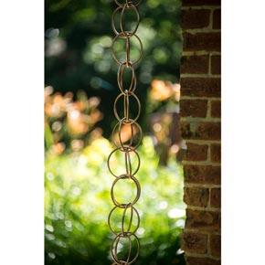 Polished Copper Rain Chain 4