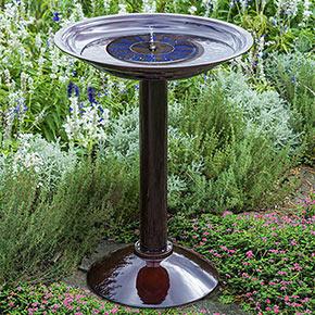 Simplicity Birdbath with Floating Solar Fountain