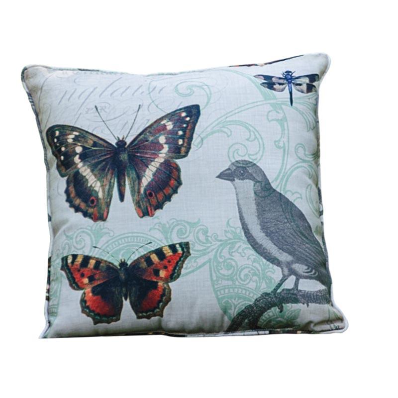 Grosbeak Family Pillow
