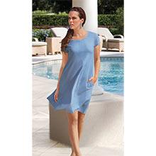 Fun-in-the-Sun Dress - Delphinium