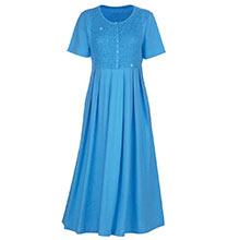 Smocked Beaded Easy Dress