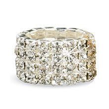 Gold Crystal Stretch Ring