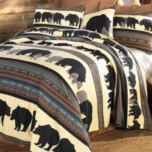 """Walking Bear Lightweight Polar Fleece 18"""" Decorative Pillow Cover"""