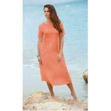 Neat Pleat Dress - Peach