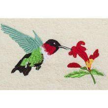 Hummingbird Embroidered Hand Towel