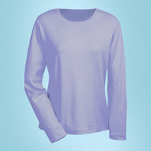 The Classic Long Sleeve Cotton Tee - Lilac