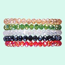 Sparkling Stretch Bracelets - Set of 5