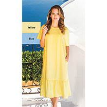 Terry Knit Lounger - Yellow