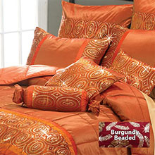 Orange Sunset Glamorous Sequin Accessories
