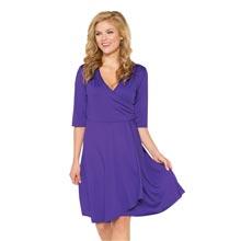 Slimming Petal Dress - Purple