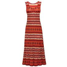 Shades of Red Maxi Dress