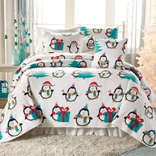 Penguin Fleece Blankets & Accessories