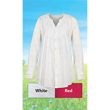 Crocheted Lace Accents Shirt - White