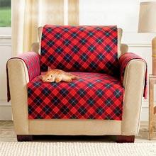 Red Plaid Pet Sofa Cover