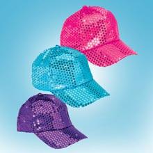 Aqua Sequined Glamour Cap
