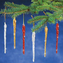 Red/Gold/Silver Icicles-S/6