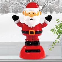 Solar Waving Santa/Black Gloves