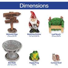 Welcome Gnome Fairy Garden Set
