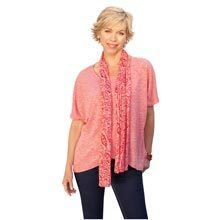 Tulip Wrap Knit Top with Scarf