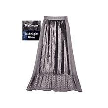 Lacy Velvet Paneled Skirt