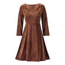 Faux Suede Knit Dress