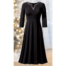 Rhinestone Embellished Dress
