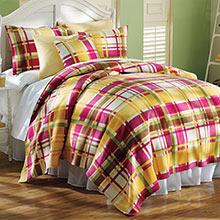 Fresh Plaid Fleece Blankets & Accessories