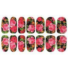 Rose Bouquet Nail Appliqu&egraves