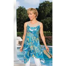 Watercolor Trapeze Dress