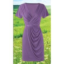 Delightful Faux Wrap Dress - Purple