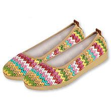 Colorful Comfort Woven Flats