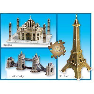 3-D Landmark Puzzles