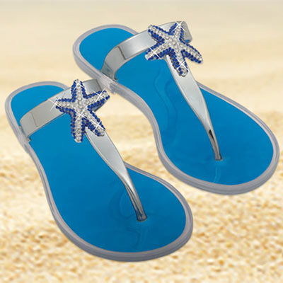 Starfish Bling Jelly Sandals