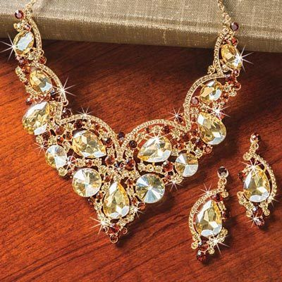 Champagne Bling Jewelry Set