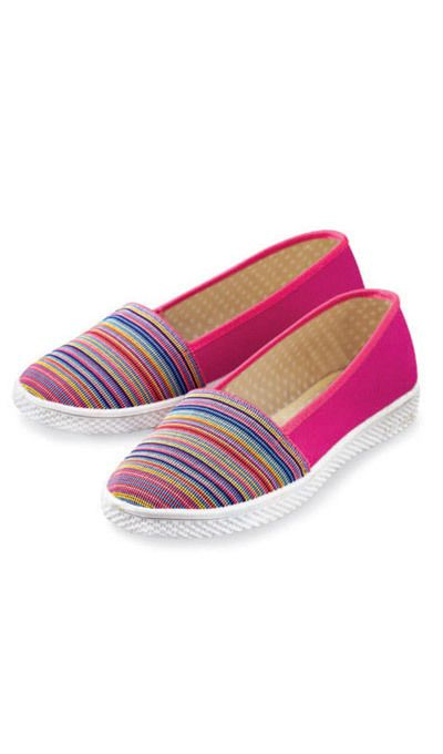 Striped Toe Loafers