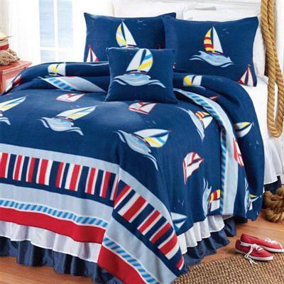 Ships Ahoy Fleece Blankets & Accessory