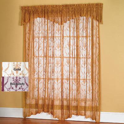 "Lacy Leaf Window Panel - 15""l Valance"