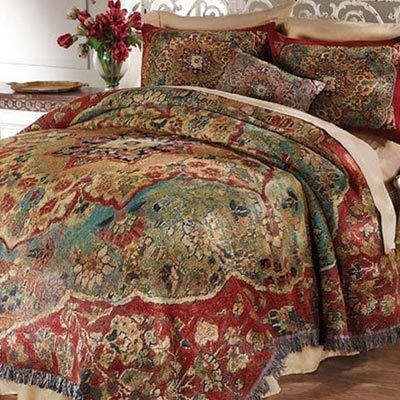 Grand Bazaar Tapestry Coverlet & Accessory
