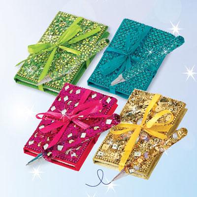 Bejeweled Notebook & Pen Sets