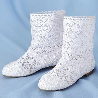 Crocheted Peek-a-Boots