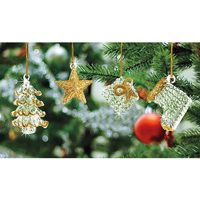 Blown Glass Ornament Collection-S/4