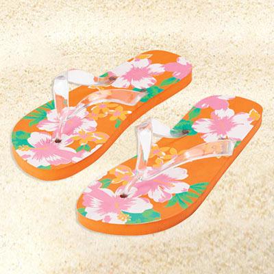 Tangerine Flip Flops