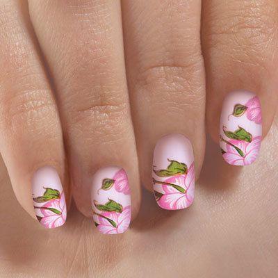Flower Blossom Acrylic Nails