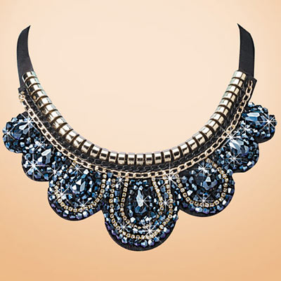 Dramatically Beaded Necklace