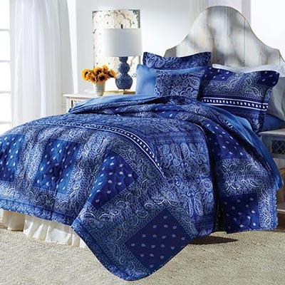 Bandana Blues Bedding